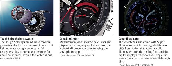 4f0714fe3267 Edifice  Premium Collection - ECB-900 Watch Series