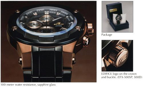 3eb10d26df77 Edifice  EDIFICE GOLD LABEL Watch Series